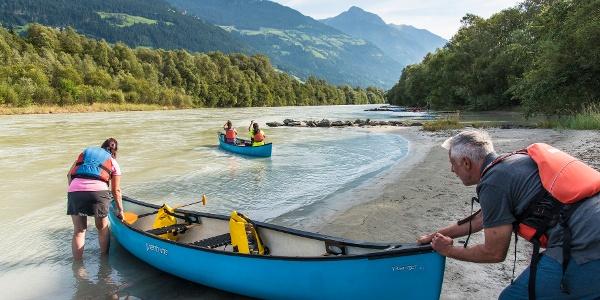 Das Kanu - ideal für Familien...