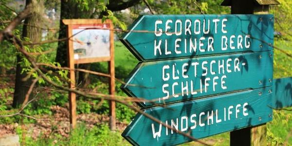 Wegweiser Georoute Hohburg