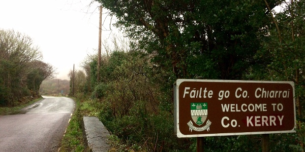 Crossing into County Kerry.