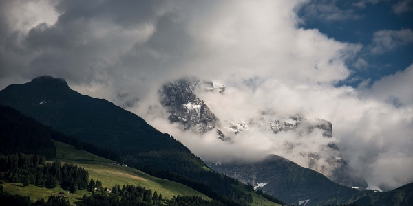 Dents du Midi hided by clouds