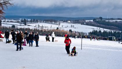 Weit links vom Rodellift endet unsere Schneeschuhtour.