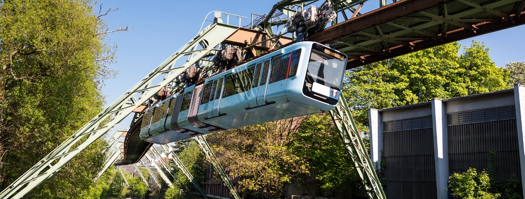 The suspension railway above the Wupper