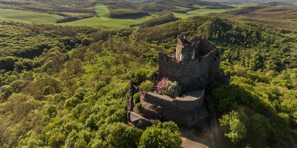 Castle of Hollókő from a bird's eye view