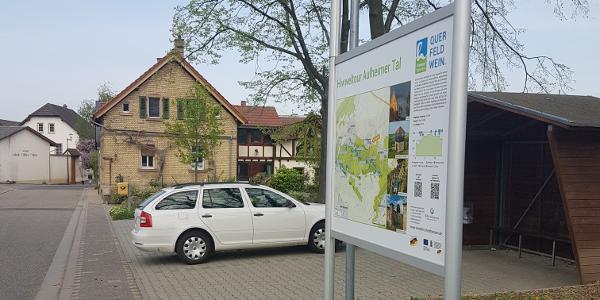 Tafel der Hiwweltour Aulheimer Tal in Bornheim
