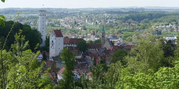 Ausblick vom Wanderweg auf Ravensburg