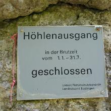 Der Höhlenausgang ist leider von Jänner bis Juli gesperrt
