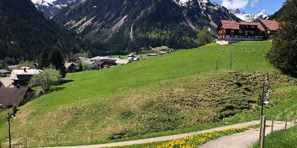 Mittelberg mit Blick auf den Bärenkopf