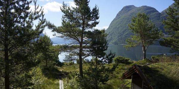 Fjordlandschaft an der Hütte Imarbu