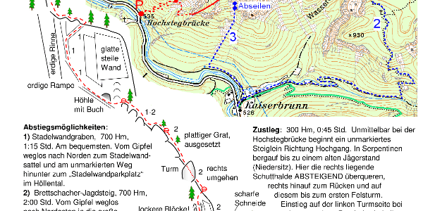 Beschreibung und Kartenausschnitt