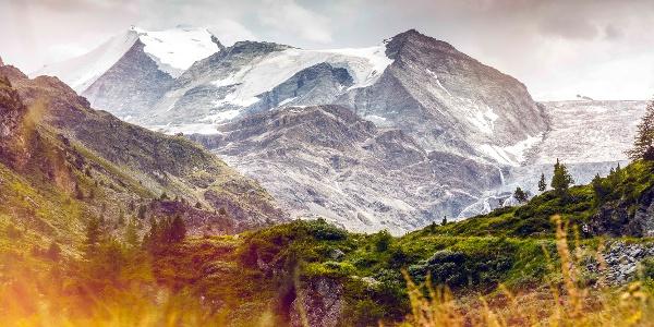 Turtmanntal mit Turtmanngletscher und Bishorn