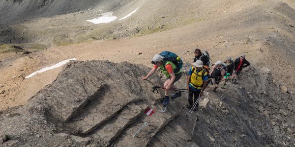 Aufstieg vom Futschölpass zum Grenzeckkopf