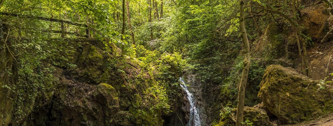 The waterfall of Jegenye-völgy (Jegenye Valley) in spring