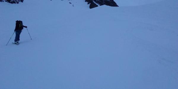 Anstieg von der Chamonna Tuoi Hütte