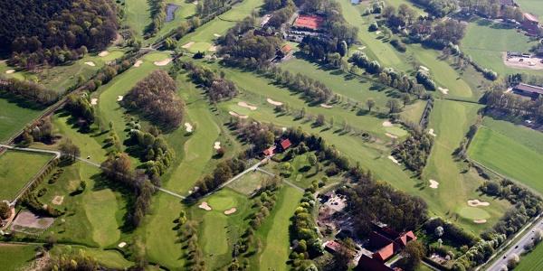 Golfplatz Marienfeld aus der Vogelperspektive