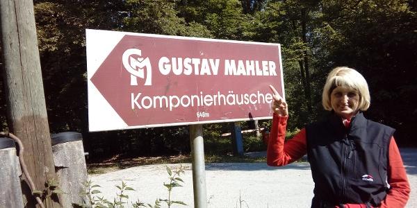 Hinweisschild nahe des oberen PP in Maiernigg