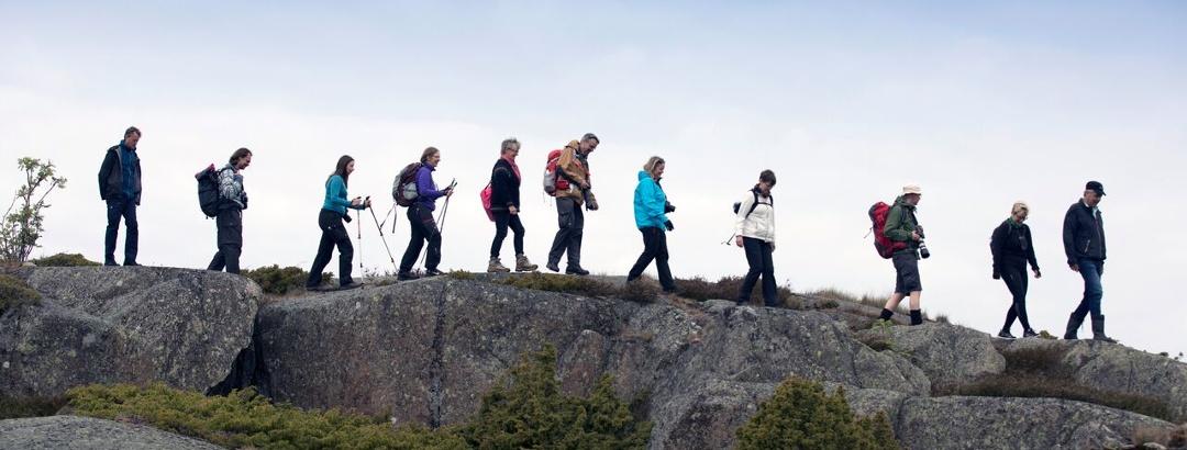 St Olav Waterway hikers