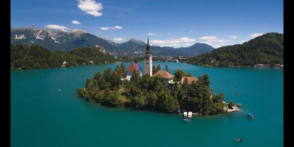 Wonderful Europe - Slovenia - Lake Bled - 2017 - Drone footage   DJI Phantom 4  