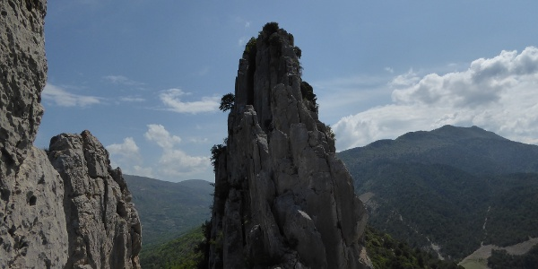 markante Gipfelgrat des Hauptgipfels des St. Julien