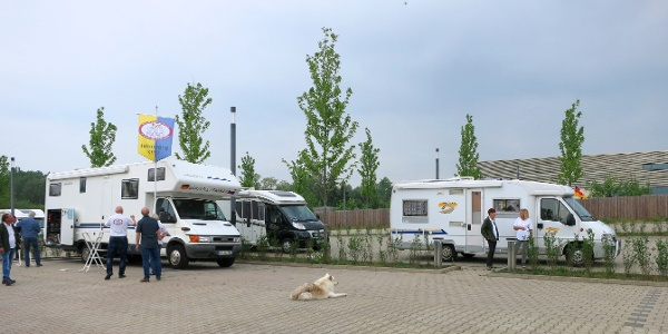 Wohnmobilstellplatz an der Wasserwelt Braunschweig