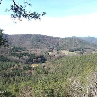 Blick vom Aussichtspunkt Dimberg bei Dimbach