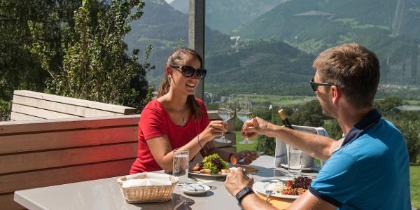 Vorspeise auf der Terrasse vom Restaurant Heidihof in Maienfeld
