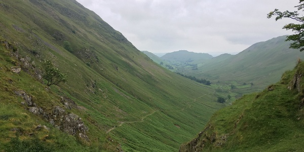 Looking down into Boredale