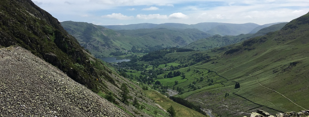 Views back down to Glenridding