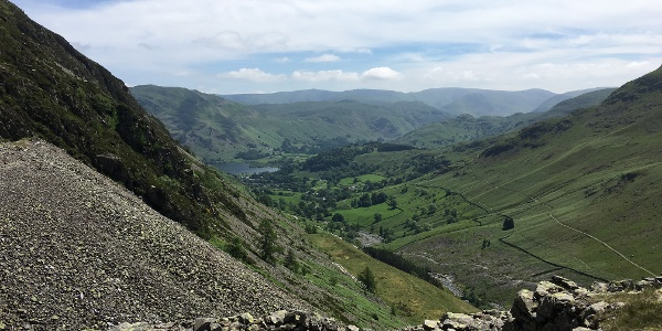 Views back down to Glenridding