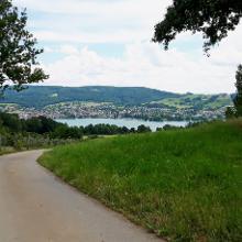 Blick zurück beim Aufstieg in Hemmenhofen