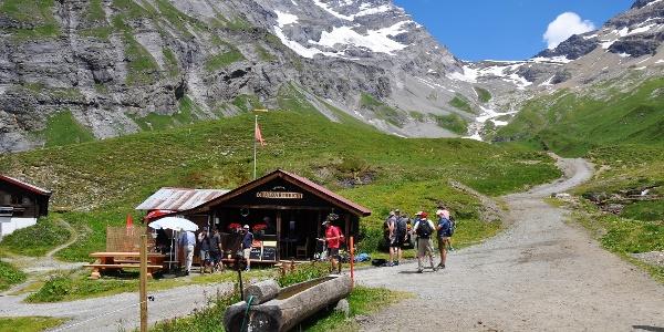 Little restaurant «Chalbärtreichi» at Fluhalpe