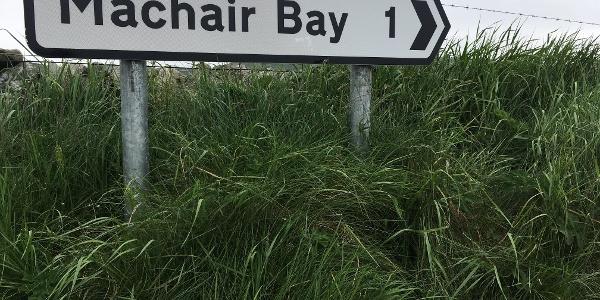 Machair Bay signpost