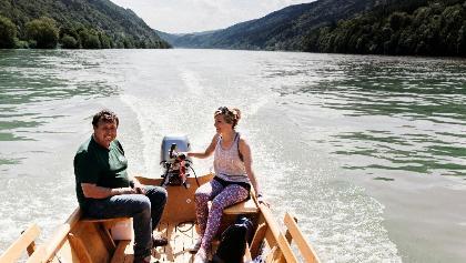 Zillenfahrt auf der Donau - Zillenbauer Witti, Freizell