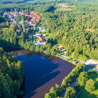 Waldseebad Hasselfelde von oben