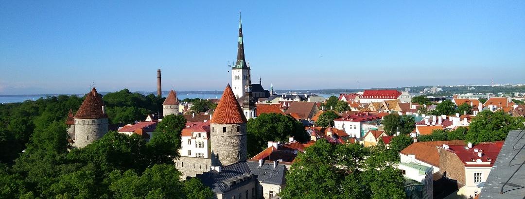 Blick auf die Altstadt von Tallinn