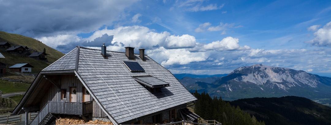 Feistritzer Alm, Hintergrund die Villacher Alpe