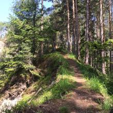 Samonigg Trail, erste Passage