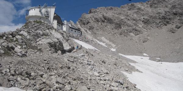 Aufstieg zur Bergstation Valugabahn