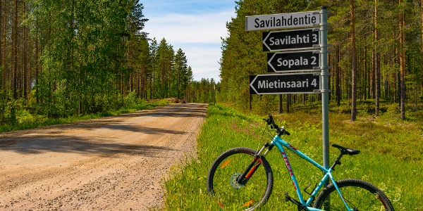 Signpost in Äitsaari island