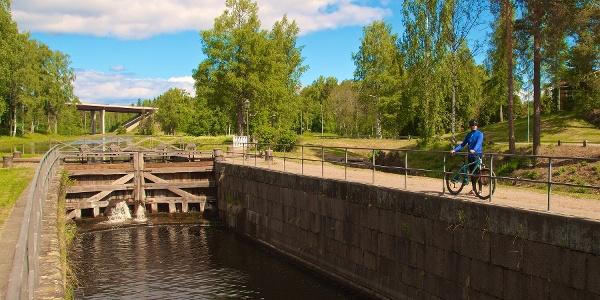Old lock gate in Saimaa Canal