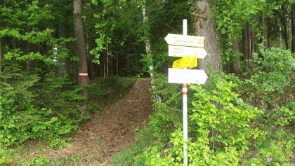 Wanderweg-Kreuzung
