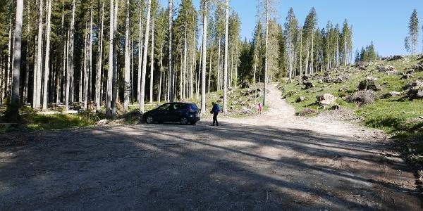 Parkplatz am Ende der Forststrasse