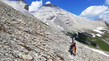 Aufstieg mit Schiebe-Pasagen