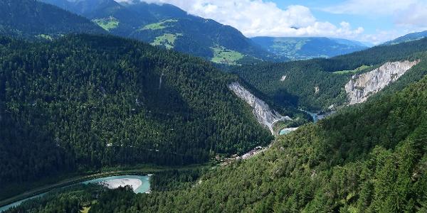 Blick über die Rheinschlucht.