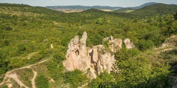 Kilátás a kőfejtő tetejéről