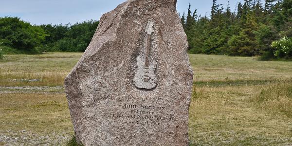Jimi Hendrix Gedenkstein