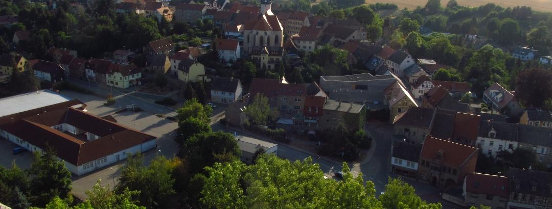 Blick auf die Lutherstadt Mansfeld