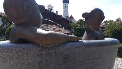 Loriot-Brunnen in Münsing