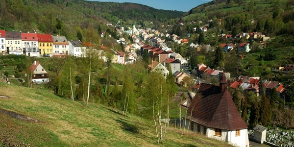 Historic town of Jachymov - All Saints Hospital Church