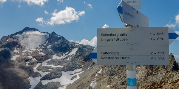 Am Kracheljoch mit Blick zum Kaltenberg