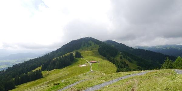 Blick auf die Fahnengehren-Alpe